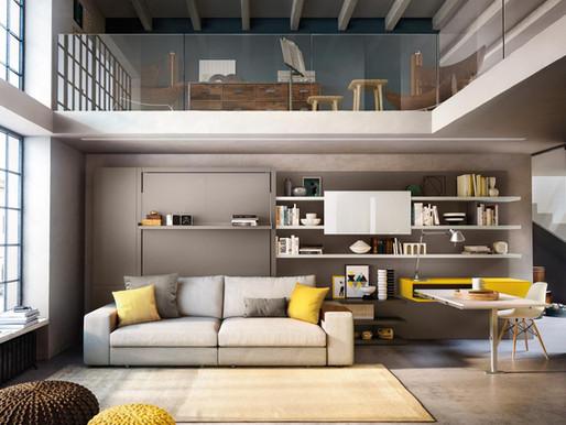 לישון בסלון- מספר רעיונות לניצול מירבי וחכם של חלל הבית והיתרונות של שניים באחד.