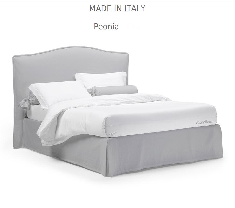 Peonia:מיטה מרופדת לחדר השינה דגם