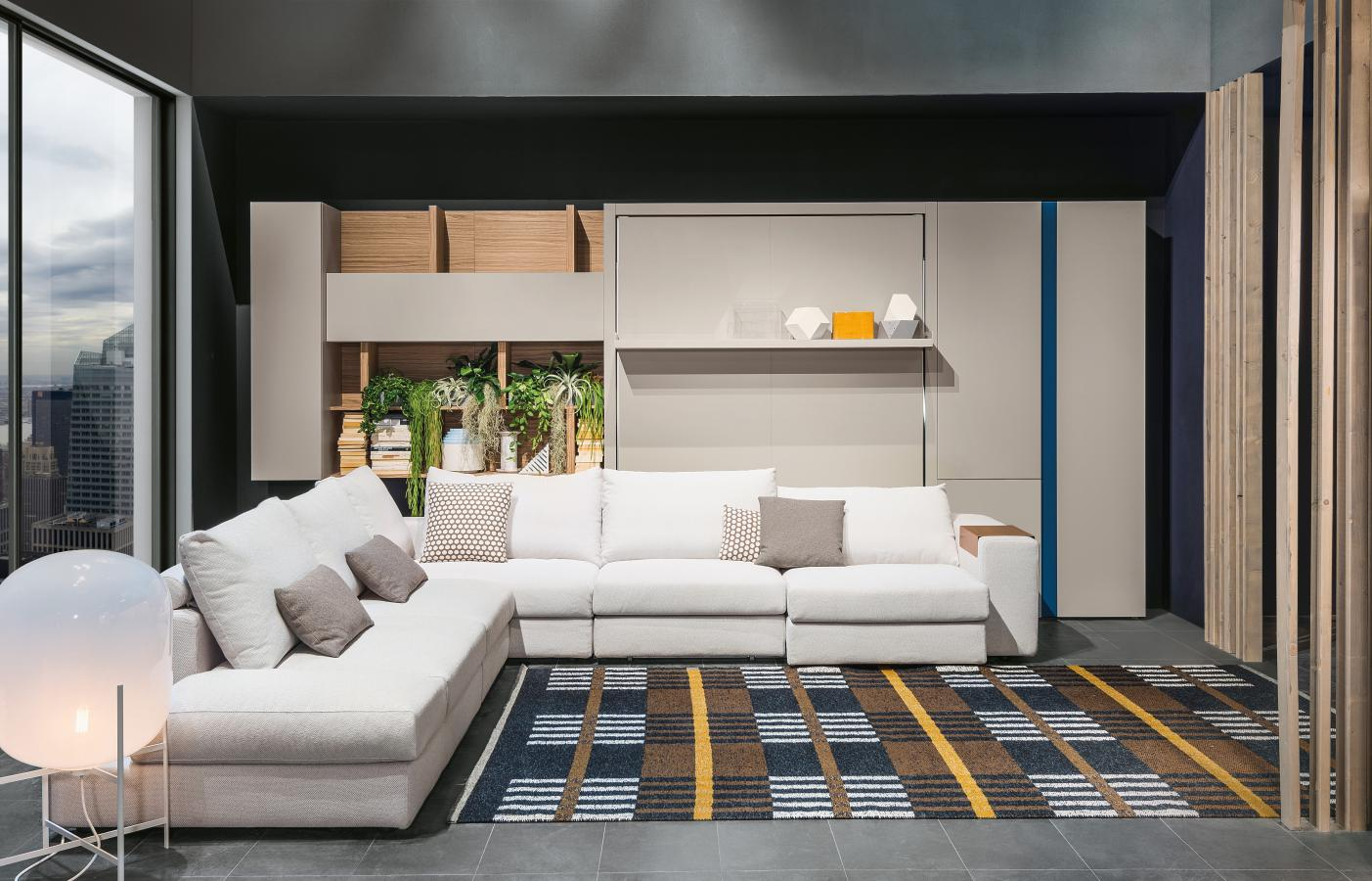 מיטות קיר עם ספה