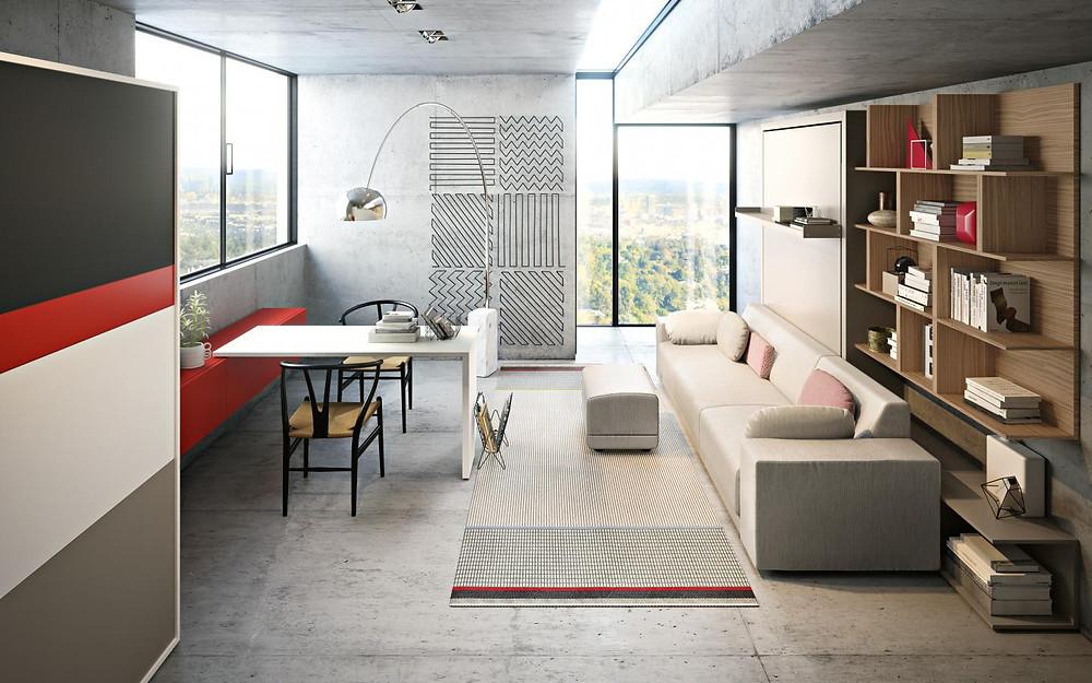 ריהוט חכם ומיטות קיר לניצול מקסימלי של חלל הבית