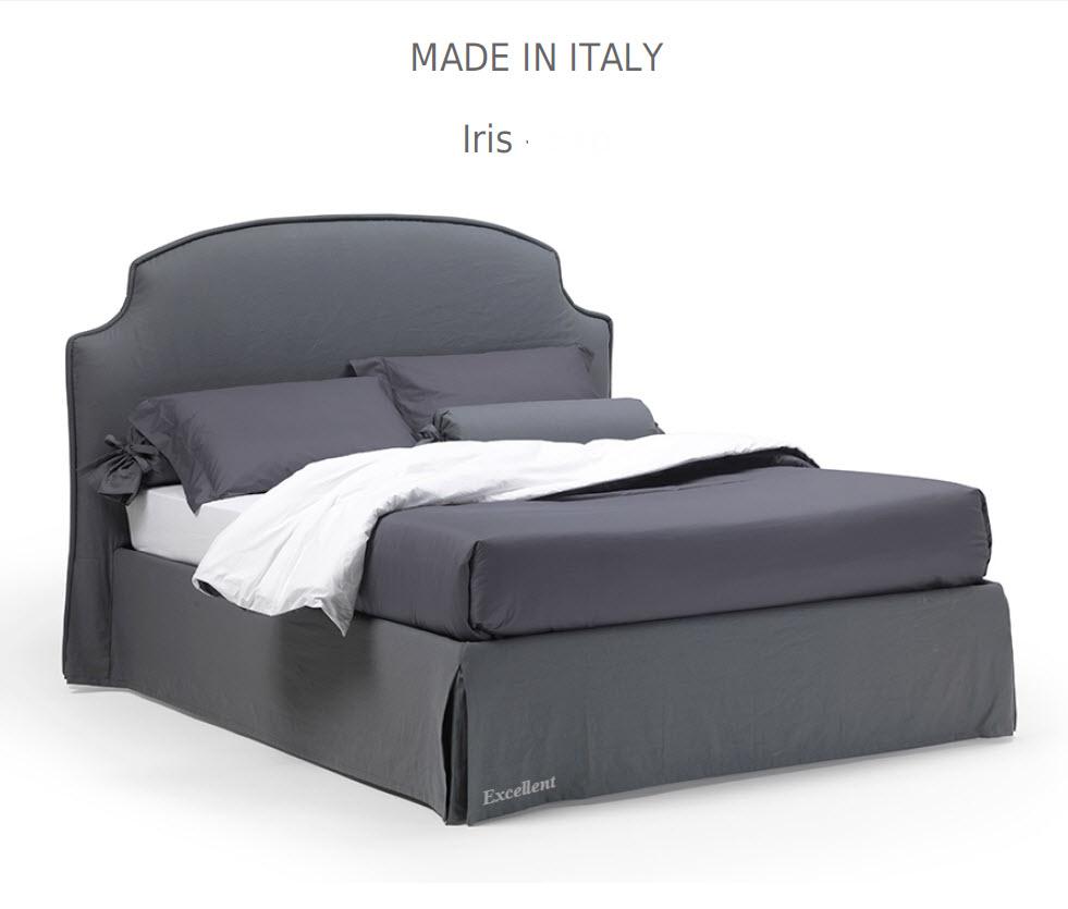 Iris :מיטה מרופדת לחדר השינה דגם