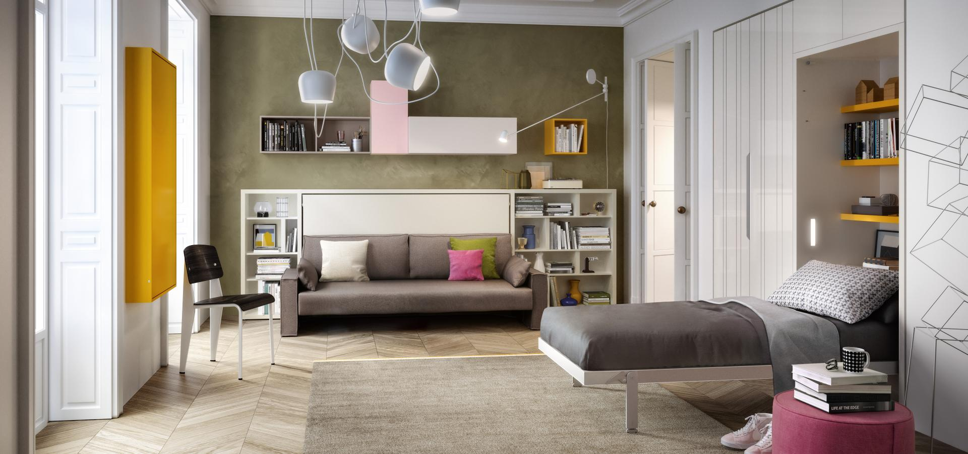 Clei - Kali Sofa 120+Altea Book 90 Stand