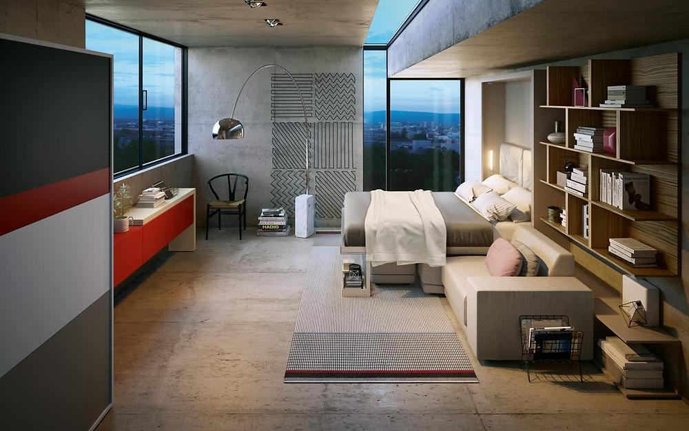 ריהוט חכם ורב תכליתי לניצול מקסימלי של חלל הבית