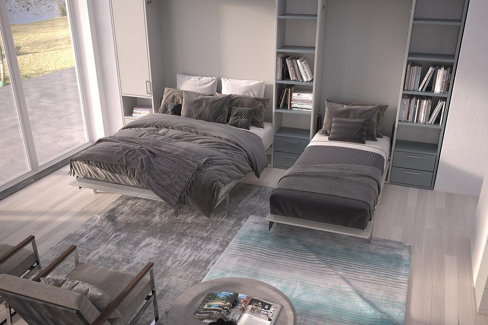 מיטת הקיר הזאת מושלמת לדירות סטודיו ולדירות קטנות שדורשות ניצול חכם ומתוחכם של שטח הבית