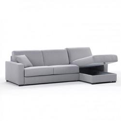 ספה פינתית עם מיטה וארגז מצעים