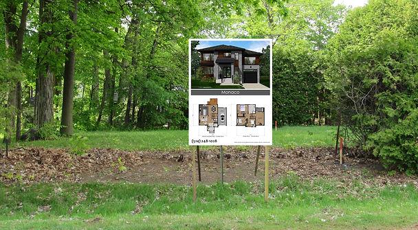 Affiche de vente construction