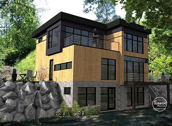 Turbide architecture perspectives 3d for Pancarte exterieure publicitaire