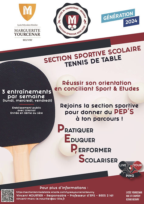 Section sportive scolaire Tdt Lycée Beuv
