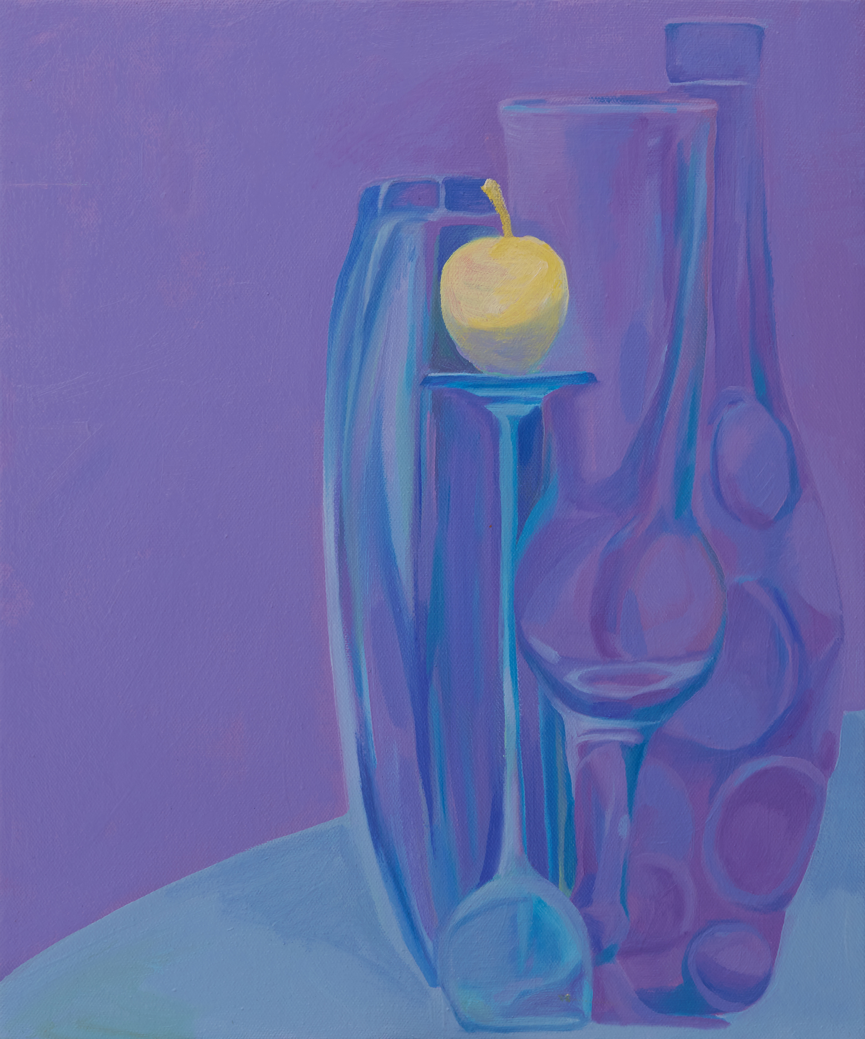 Still life in Violet and Yellow