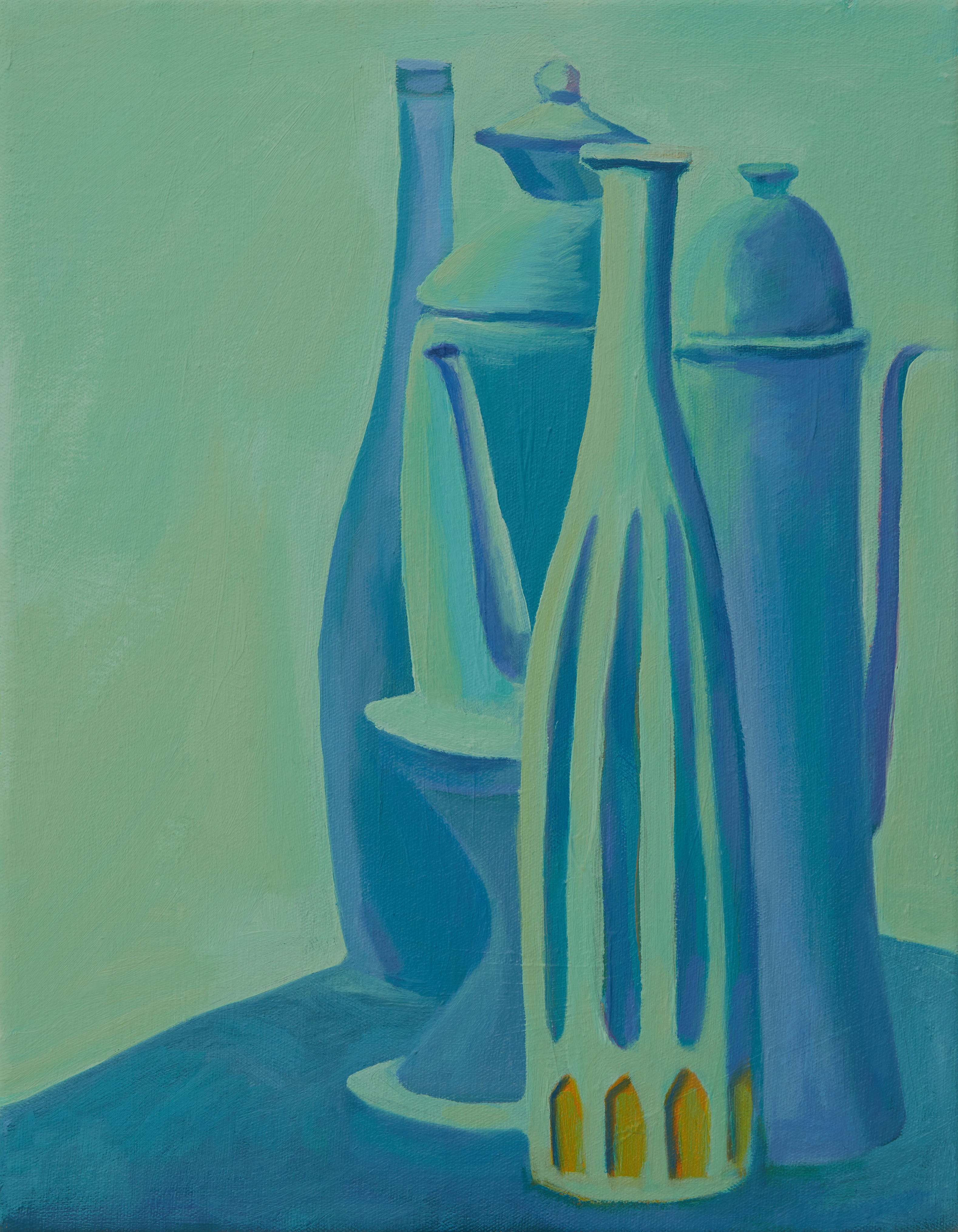 Still life in Emerald and Blue
