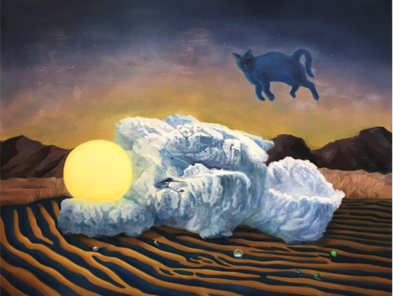 푸른 고양이와 사막