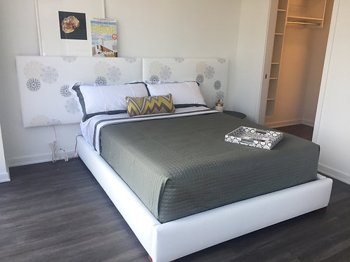 Gallery Headboard and Bed