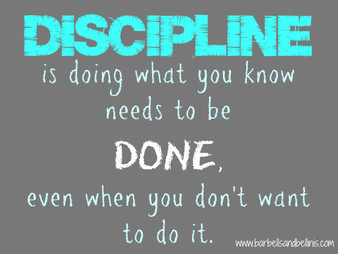 Discipline Is the Key to Change