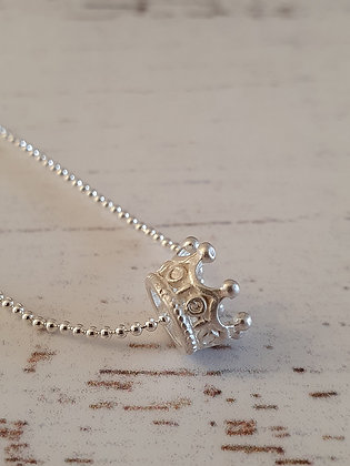 Collar corona de plata 950