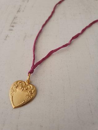 Corazón Seda Palo Rosa