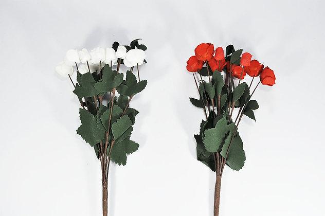 Rama de flores Roja o Blanca