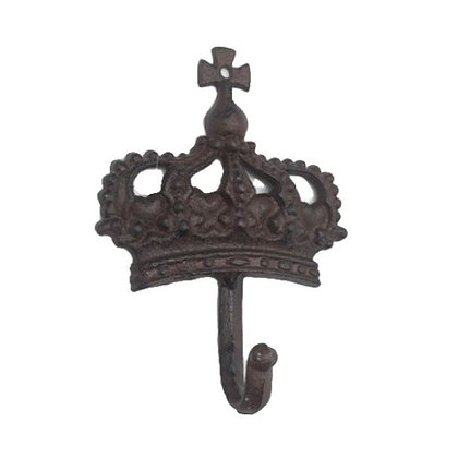 Percha fierro corona cruz grande