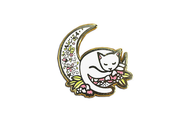 Pin Gato Luna