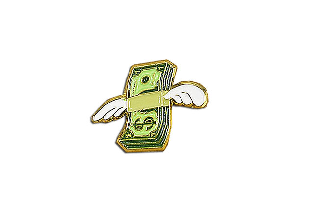Pin flying money