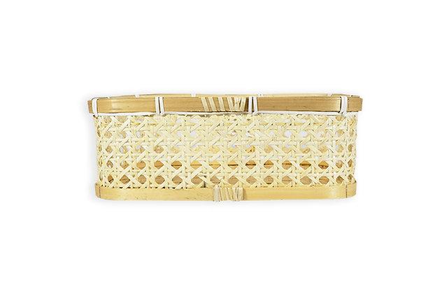 Canasto rectangular bamboo 30x46x20