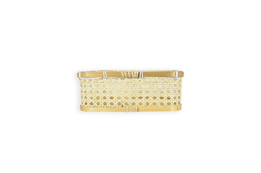 Canasto rectangular bamboo 20x28x10