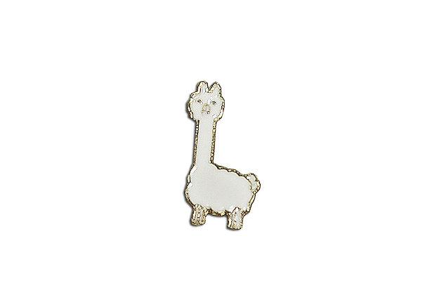 Pin Llama blanca