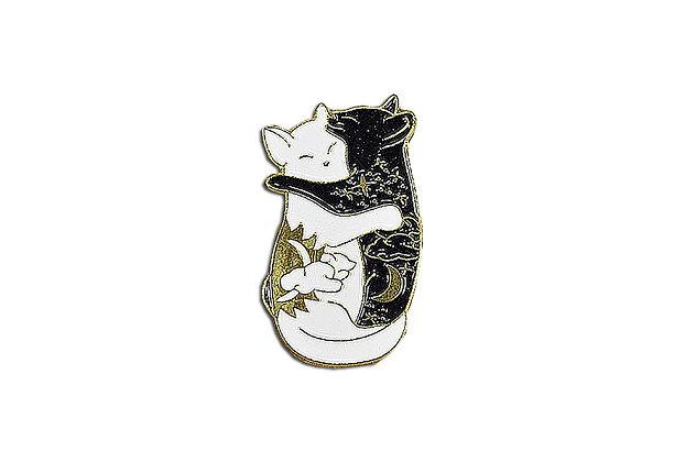Pin Gatos blanco y negro