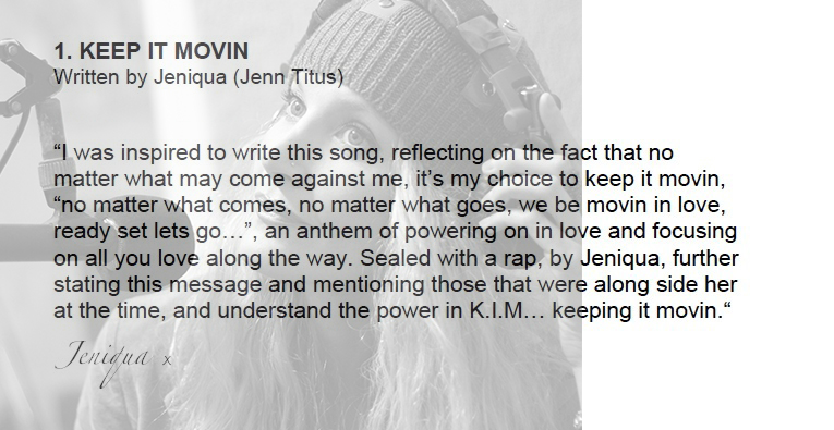 Jeniqua EP 'KEEP IT MOVIN'