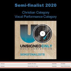 Semi-finalist in 2 Categories