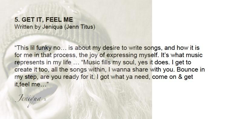 Jeniqua EP 'GET IT, FEEL ME'