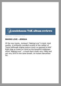 Soulchoonz (MAKING LOVE Review) 2010