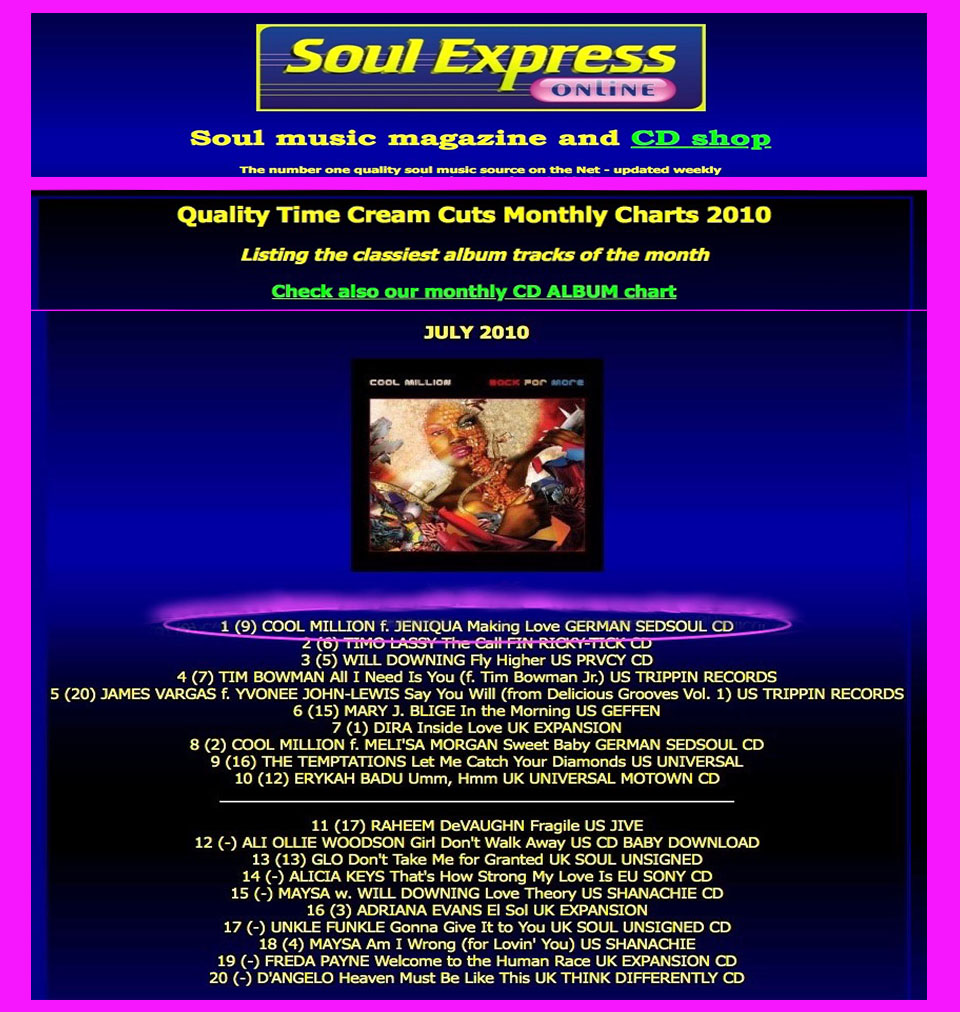 SOUL EXPRESS (Making Love) No1