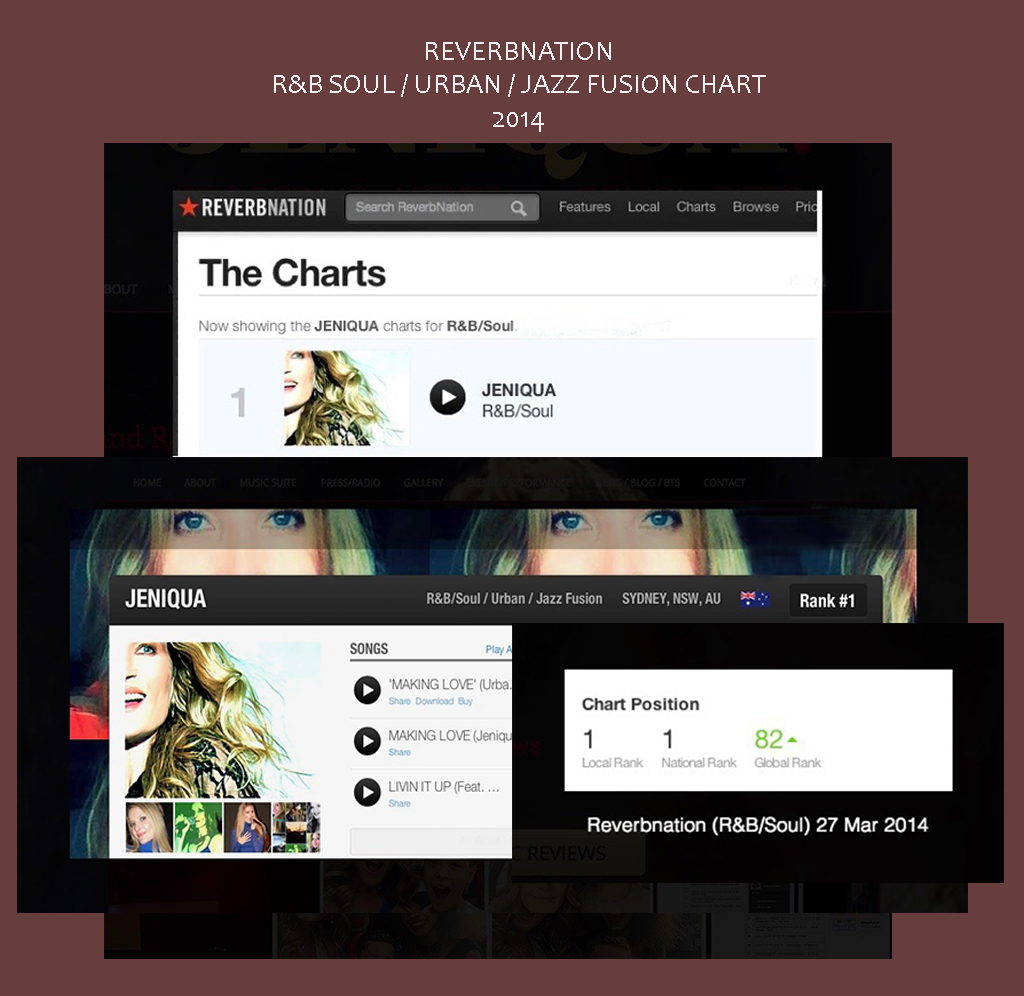 Reverbnation R&B Soul Chart No1