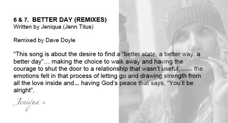 Jeniqua EP 'BETTER DAY' Remixes