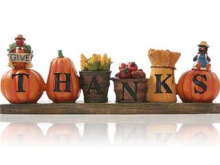 Thanksgiving Greetings & Update
