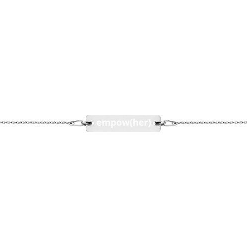 empow(her) - Engraved Bar Chain Bracelet