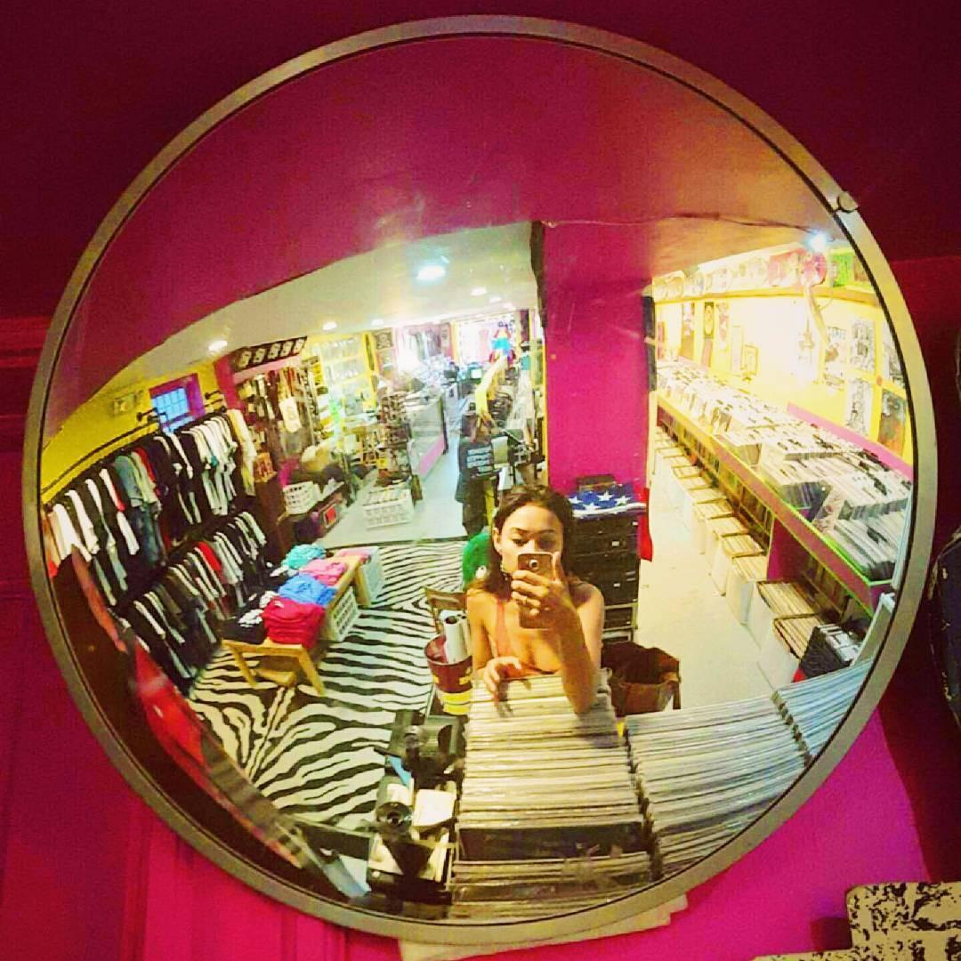 Record Store Selfie