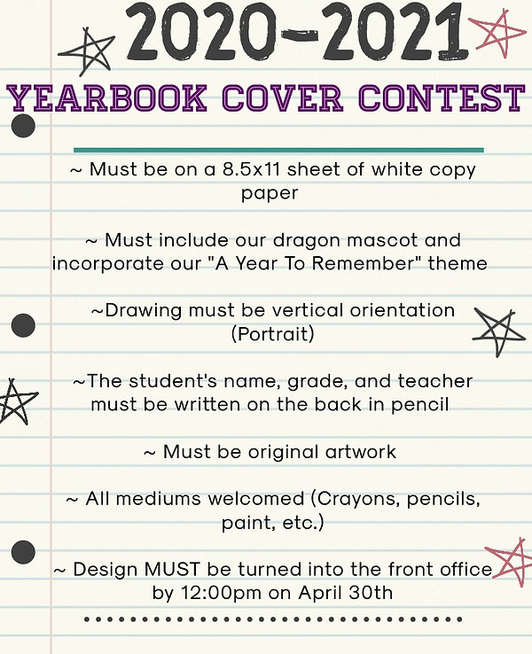 Revised Yearbook Cover Contest 2020-2021