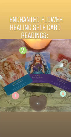 ⚘⚘Enchanted Flower Healing Self Card Readings: