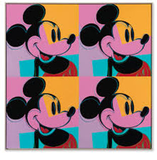 An Andy Warhol painting of Mickey Mouse