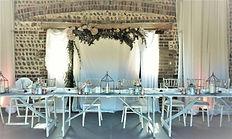 Top table in the Flint Barn at Peelings ManorBarns