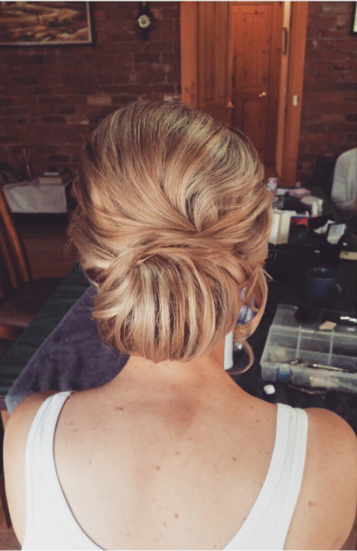 Textured Low Bun