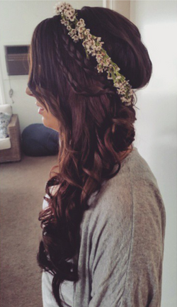 side braided curls