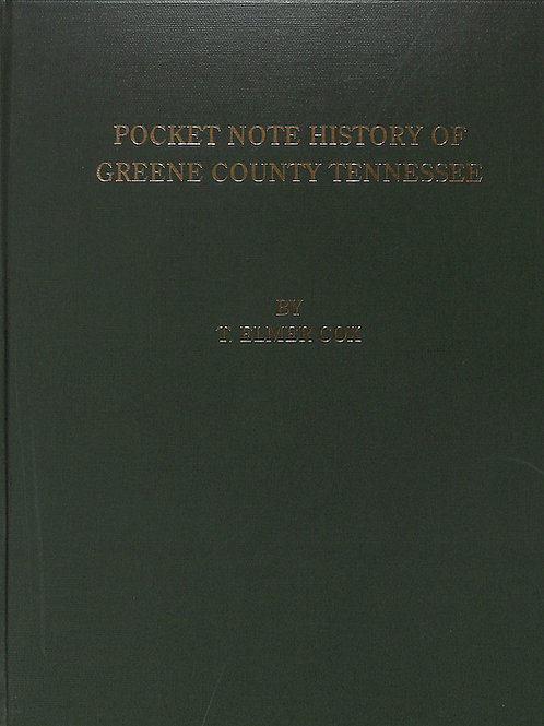 Pocket Note History of Greene County Tennessee