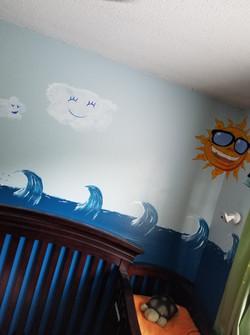 Ocean and Sun kids Mural
