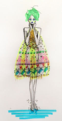 Fashion Illustration Emma Kendall Design London Textiles