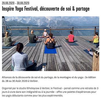 Verbier Inspire Yoga Festival Arcinfo