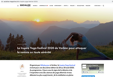 Socialize inspire yoga festival