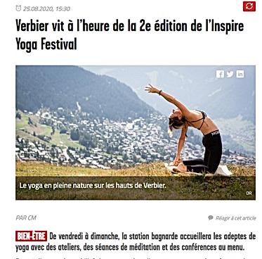 Inspire Yoga Festival article le nouvelliste