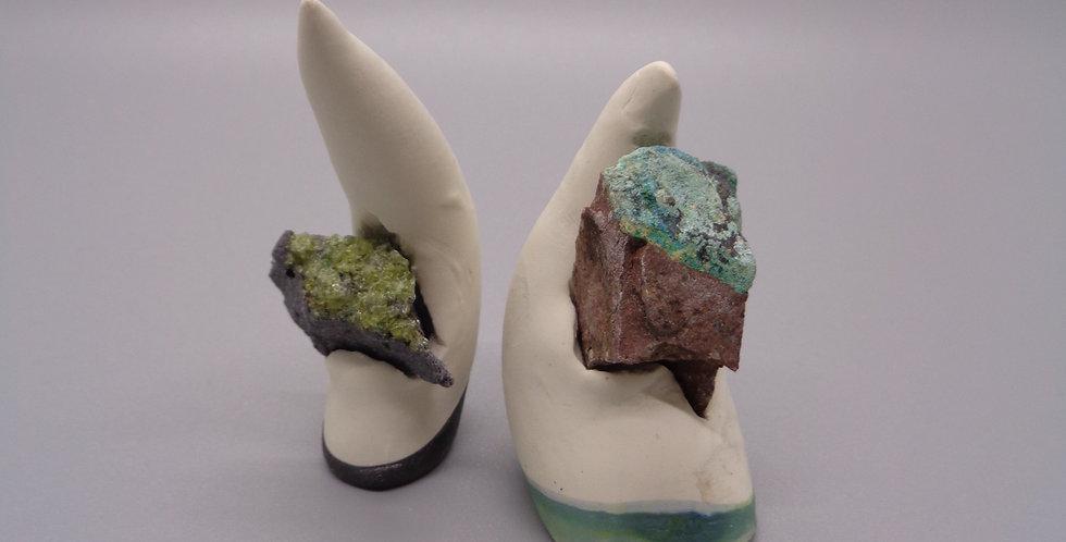 Natural Peridot & Chrysocholla (Rough Gems)